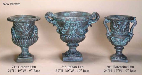 Grecian, Italian, and Florentine Urns