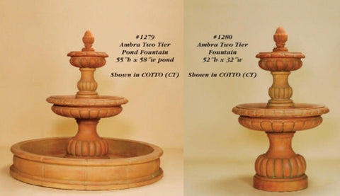 Ambra Two Tier Fountain & w/ pond