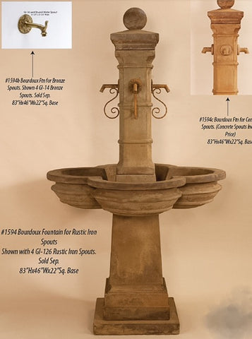 Bourdoux Fountain w/ option spouts