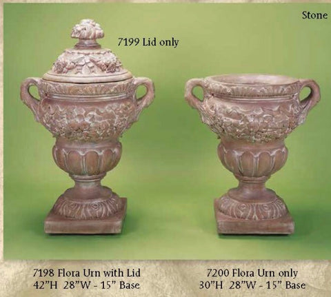 Flora Urn with Lid & w/ out Lid