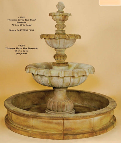 Vistamar Three Tier Pond Fountain