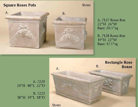 Roses boxes & rectangular planters