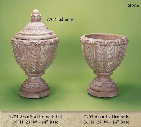 Acantha Urn With Lid & w/out Lid