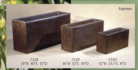 Contemporary Rectangular Urban Planters