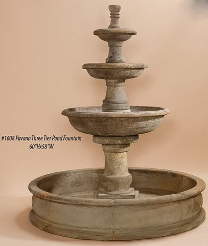 Pavana Three Tier Pond Fountain