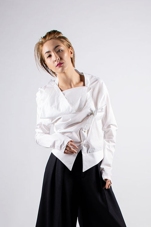 Aganovich Cotton Blouse