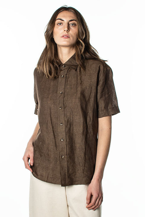 O+W Short Sleeve Linen Shirt
