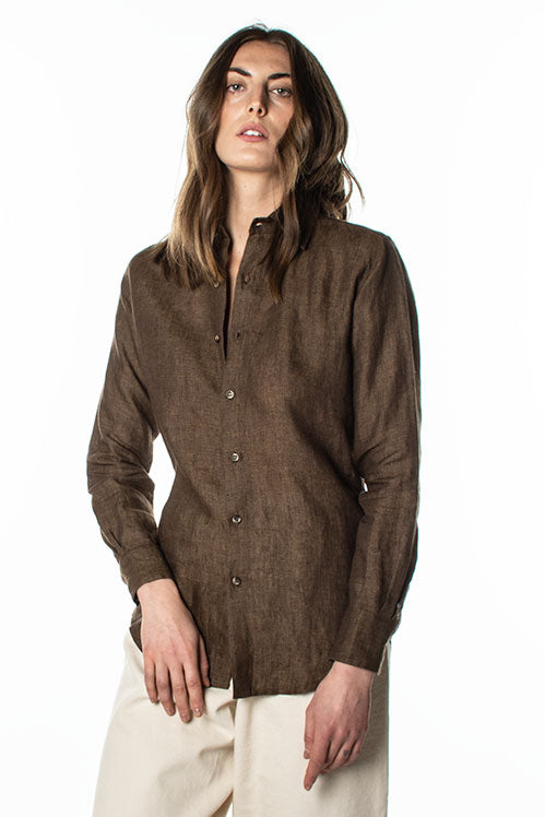 O+W Long Sleeve Linen Shirt