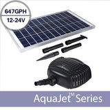 24v AquaJet Custom Solar Fountain Submersible Pump Kit