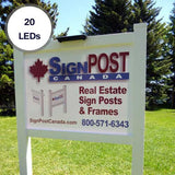 SunPal 20LED Solar Real Estate Sign Light