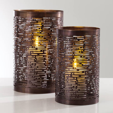 Haro Metal Cutout Lanterns - Antique Copper