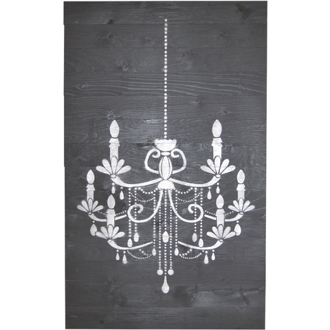 Barnboard Sign - Chandelier