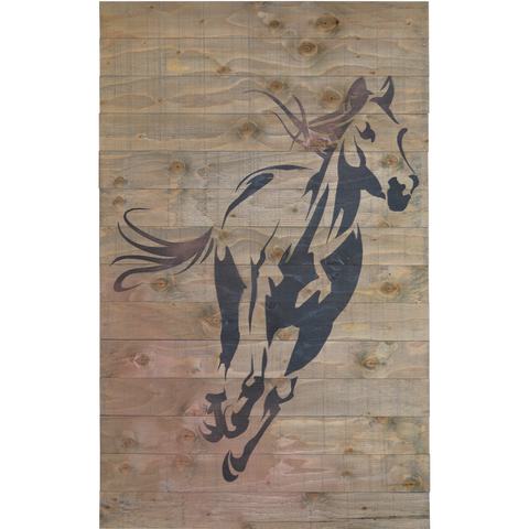 Barnboard Sign - Running Horse