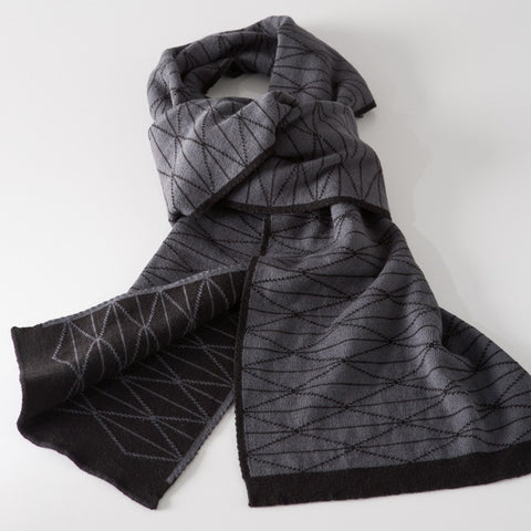 Diamond Jacquard Cotton Scarf