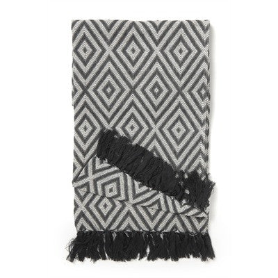 Diamonds Black Throw