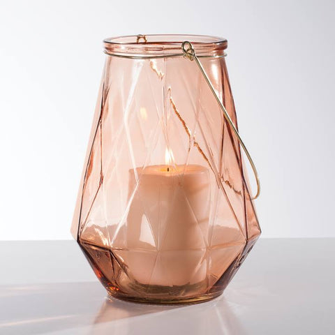 Facet Glass Lantern