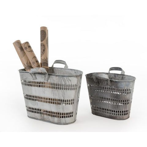 Oval Tin Baskets