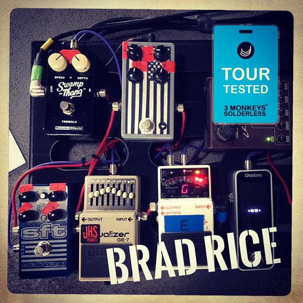 Brad Rice 3 Monkeys Solderless Pedalboard