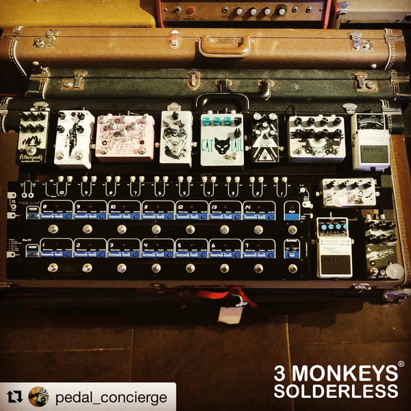 3 Monkeys Pedalboard