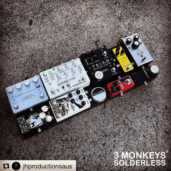 3 Monkeys Solderless Pedalboard