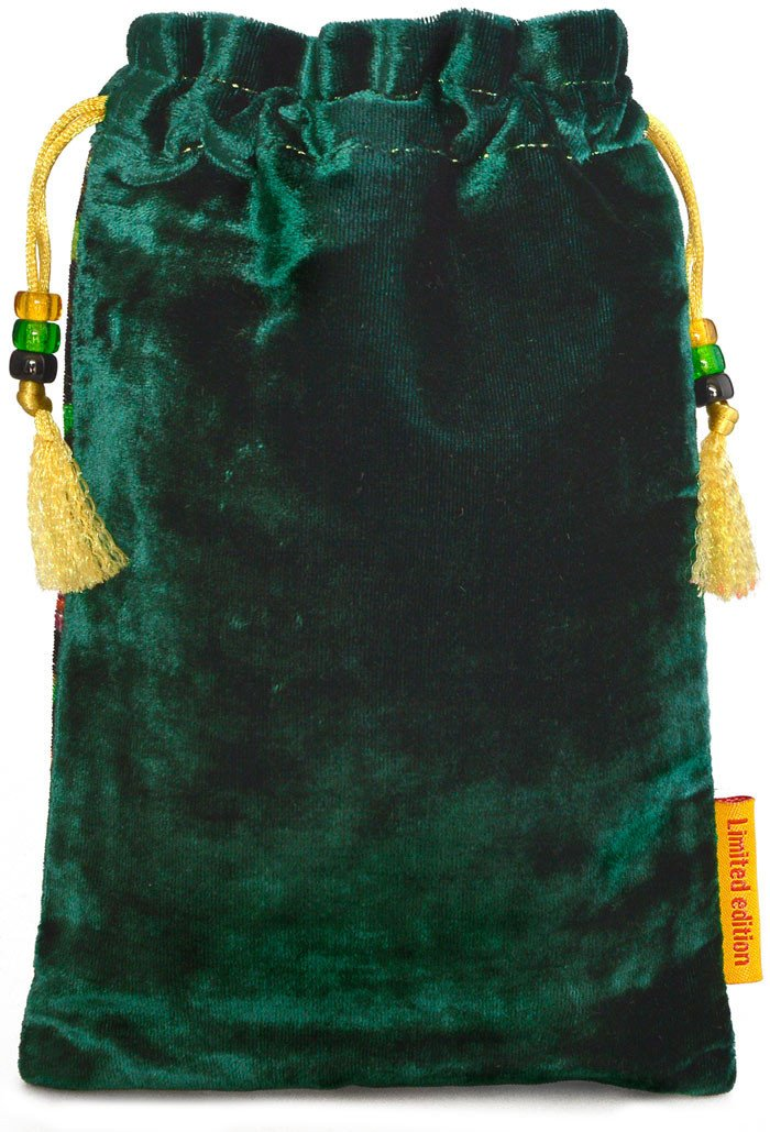 The Ginger Cat bag. Printed on silk velvet. Green velvet. - Baba Store EU - 2