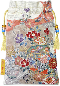 Soft silks - silk tarot bag from vintage Japanese kimono pure silk. By Baba Studio