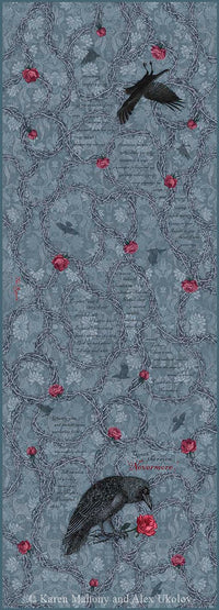 Baba Studio Gothic scarf - The Raven print in viscose