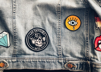 Patch sur jacket de jeans