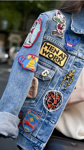 jacket with awesome patches