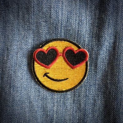 the gold smiley patch by Les tatoués