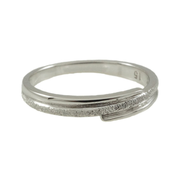Sterling Silver  CZ & Rhodium Plated  Ring Woman horizontal view