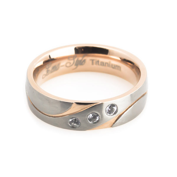 Women's unique wedding band