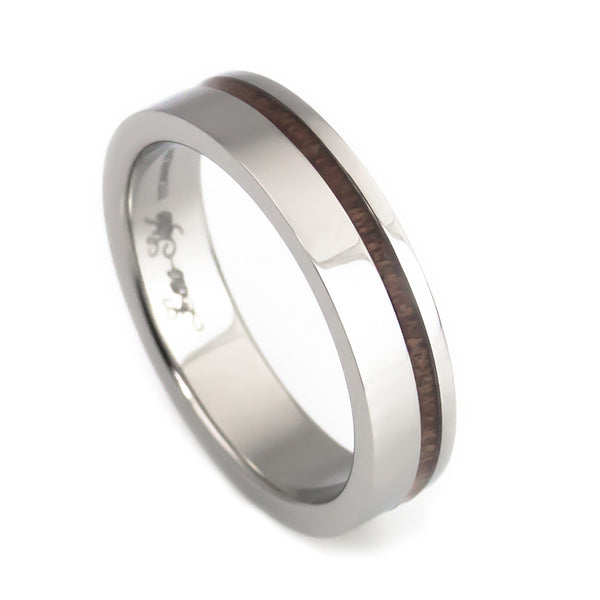 Unique titanium wedding band