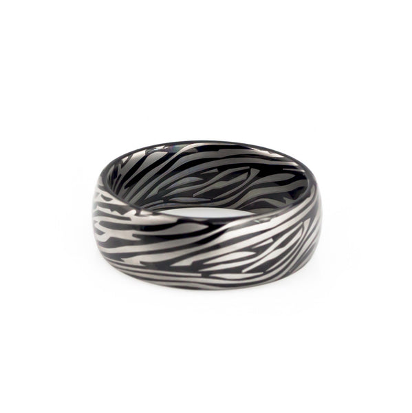 Damascus Steel Tungsten Wedding Band for men and women