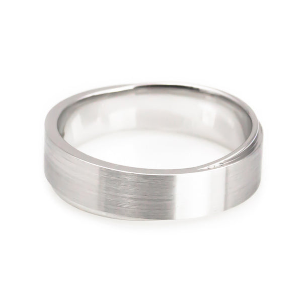 White Gold Diamond Wedding Band his horizontal view