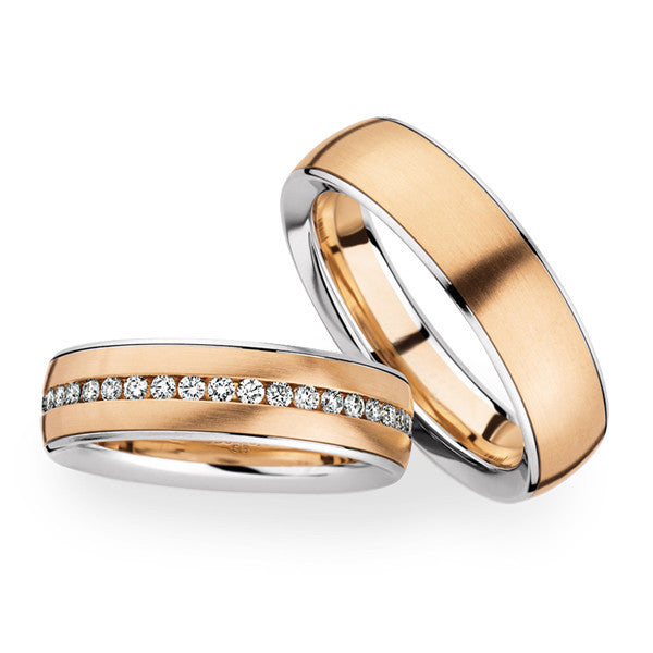 Gold wedding bands set by Lena  Style