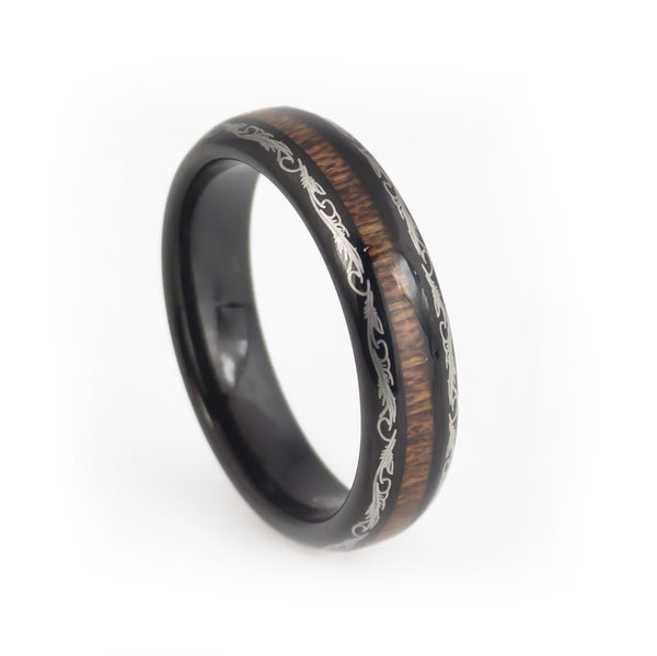 Dome tungsten ring for women dragon craft