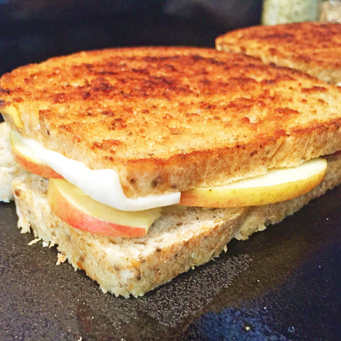 Grilled Apple Dijon Mild Cheddar Goat Cheese