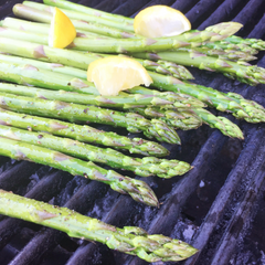 Grilled Asparagus Maple Cheddar Goat Cheese