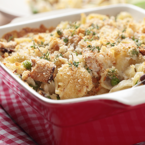 tuna casserole with mild cheddar goat cheese