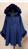 Alpaca & Chinchilla Dyed Navy Cape
