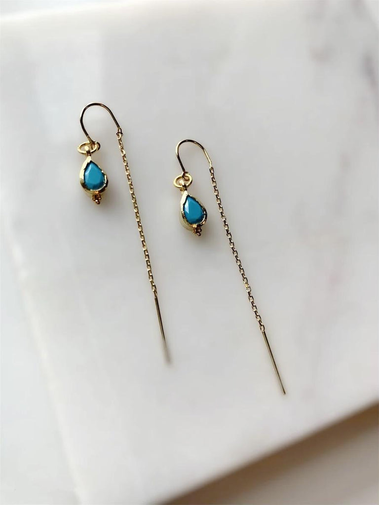 TURQUOISE THREAD BOUCLES D