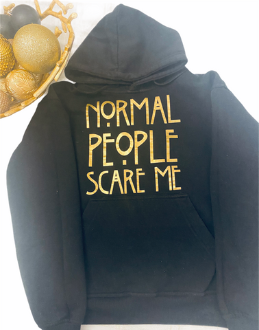 Hoodie 'Normal People Scare Me' - Fazi T'z