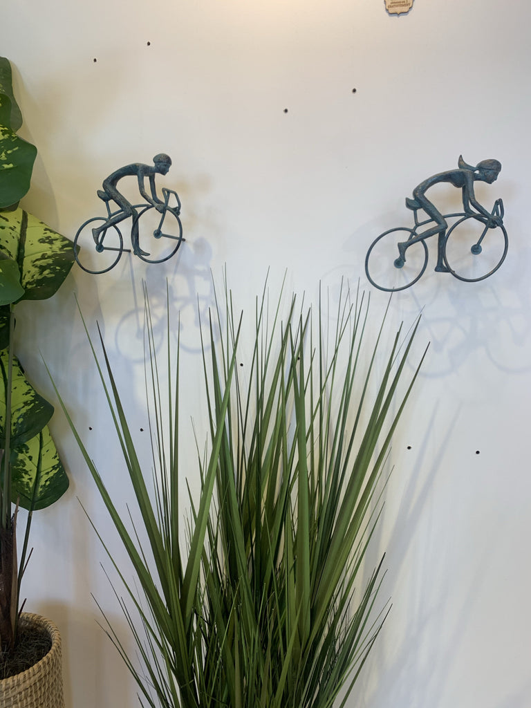 2 piece 3D Sculpture Bicycle Wall Art Gift For Home Decor Interior Design UNIQUE AND AMAZING floating Couple Bronze