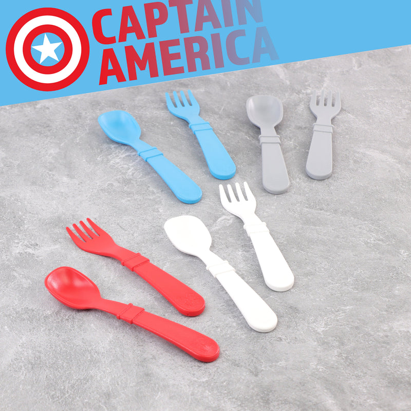 Captain America 8pk Utensils