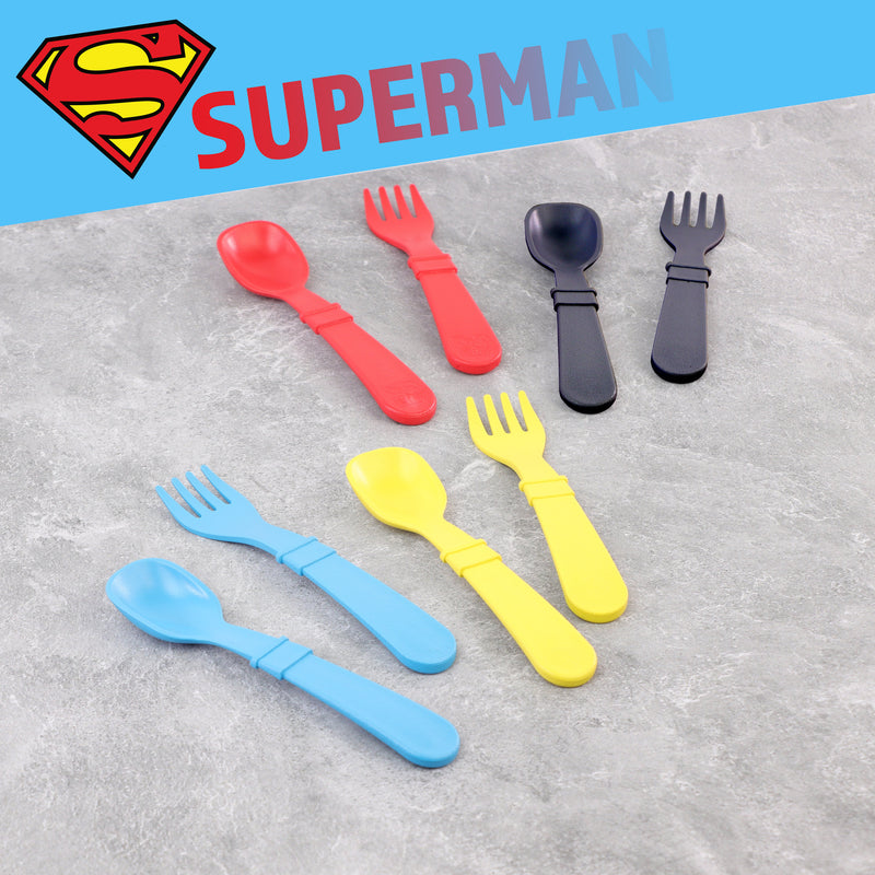 Superman 8pk Utensils