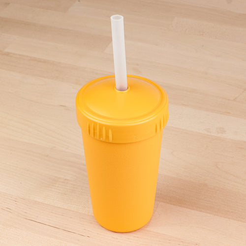 10 oz Straw Cup w/ NEW Translucent Silicone Straw