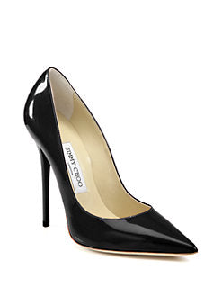 Jimmy Choo - Anouk Patent Leather Point- Toe Pumps