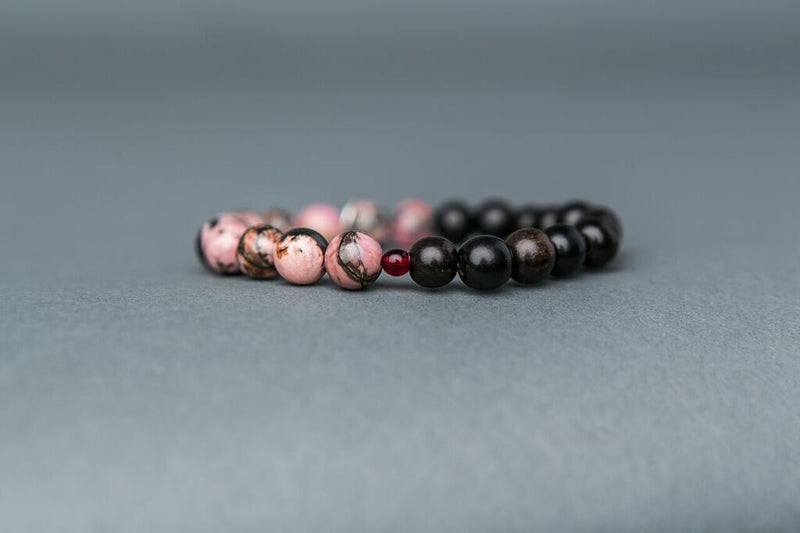 Rhodonite Stone Stack - Decrease Anxiety