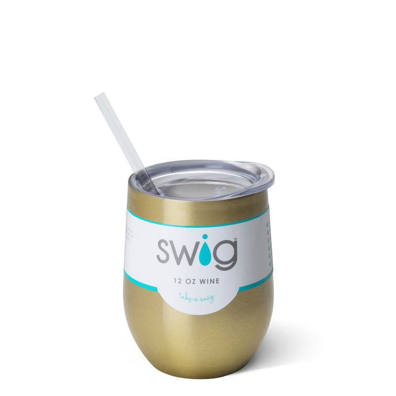 SWIG - Gold 12oz Stemless Wine Cup